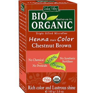 Bio Organic Henna Hair Color Chestnut Brown
