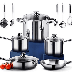 Homichef stainless steel cookware