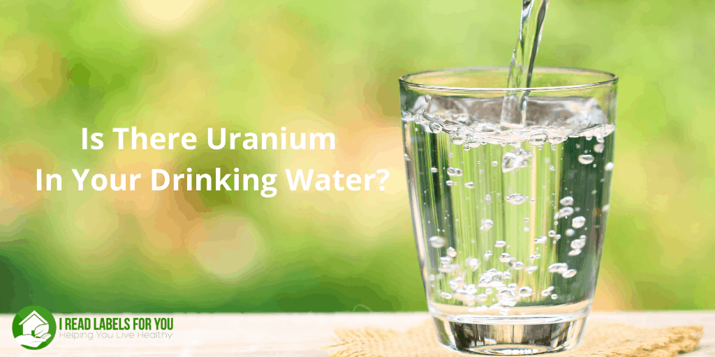 Test for Uranium In Water. A photo of a glass with contaminants in drinking water.