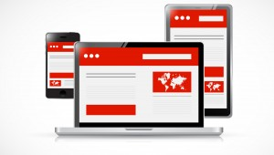 responsive web design. computer electronics