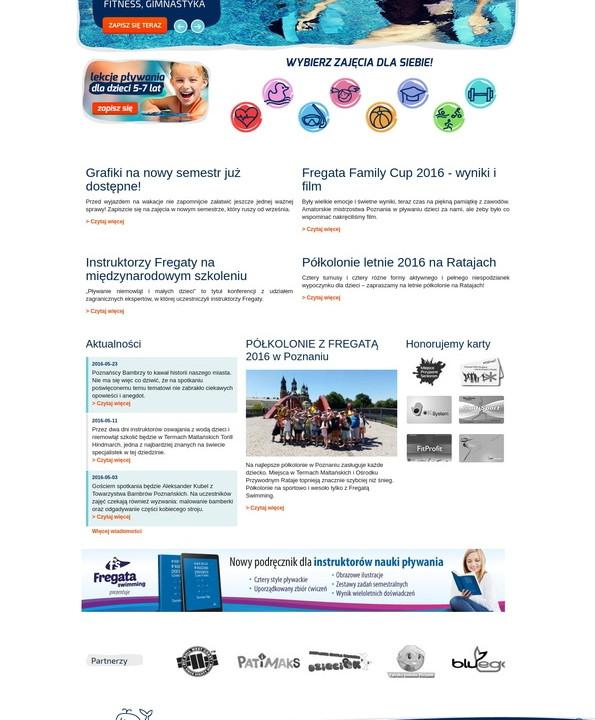 Website Fregata swimming