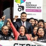 Gov. Brown Signs Safe Side Walk Vending Act