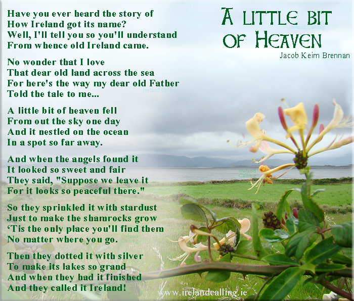 Most Popular Ireland Calling Facebook Poems – Ireland Calling