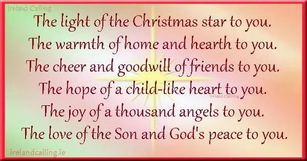 Irish Christmas Blessings And Carols Ireland Calling