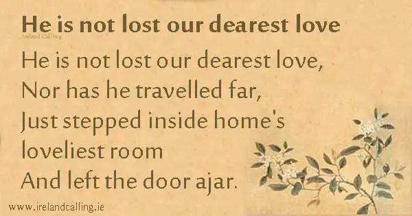 irish blessing death quotes