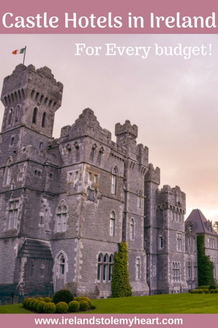 Interested in castle hotels in Ireland? Irish castle hotels offer the perfect fairytale experience and I'm sharing the best castle hotels in Ireland in the post. The best part? There are Irish castle hotels for every budget! Click to learn more. #Ireland #IrishCastle #CastleHotel #irishCastleHotel