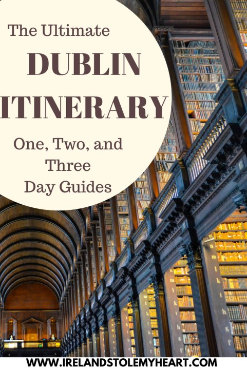 The Ultimate Dublin itinerary. Guides for 1, 2, or 3 days in Dublin. From sites and attractions to pubs and restaurants, these are my recommendations on the best things to do in Dublin. #Dublin #Ireland