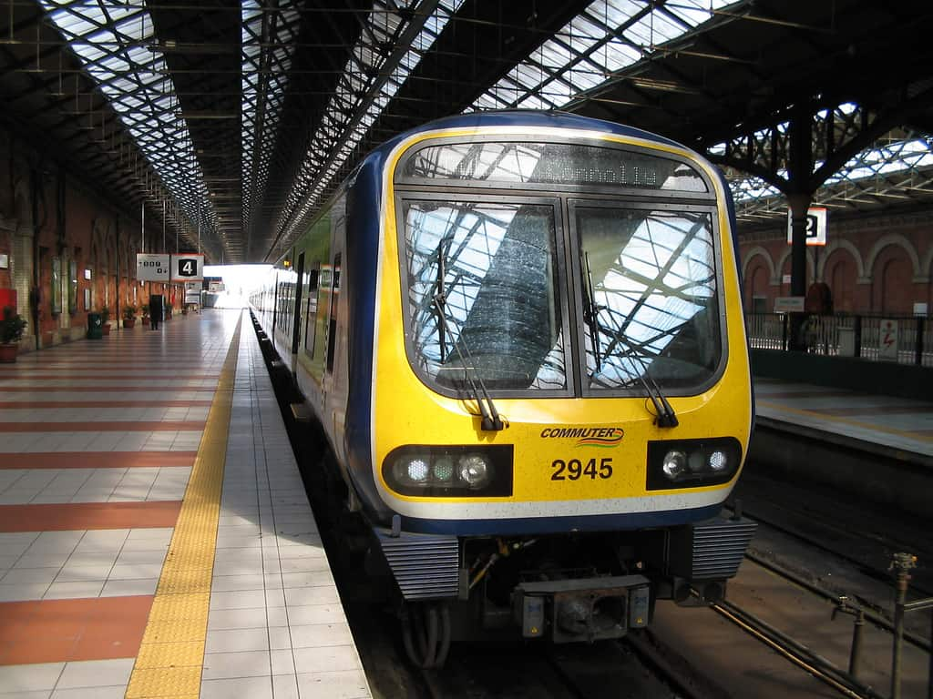 Train at Connolly Station, Ireland