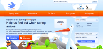 Record your spring bird sightings on Spring Alive