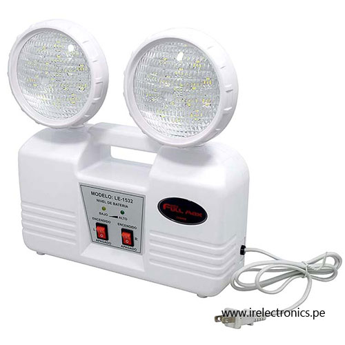 LUZ DE EMERGENCIA 32 LEDS 8 HORAS FULL MAX LE1532  IR