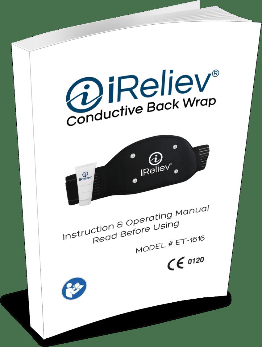ET-1515 Conductive Back Wrap Accessory, Fits ET-1313, ET-7070 and ET-9090 TENS Unit