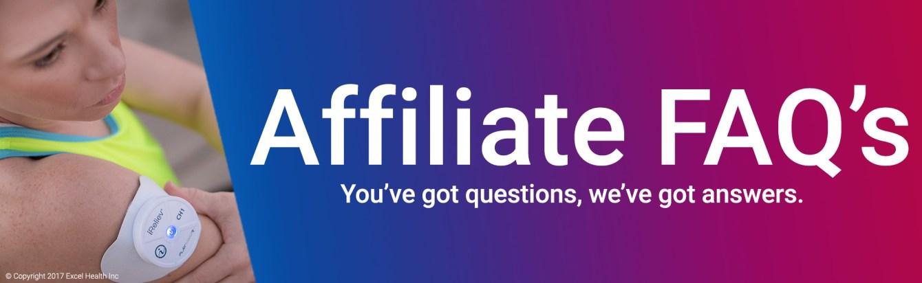 Affiliate FAQ's