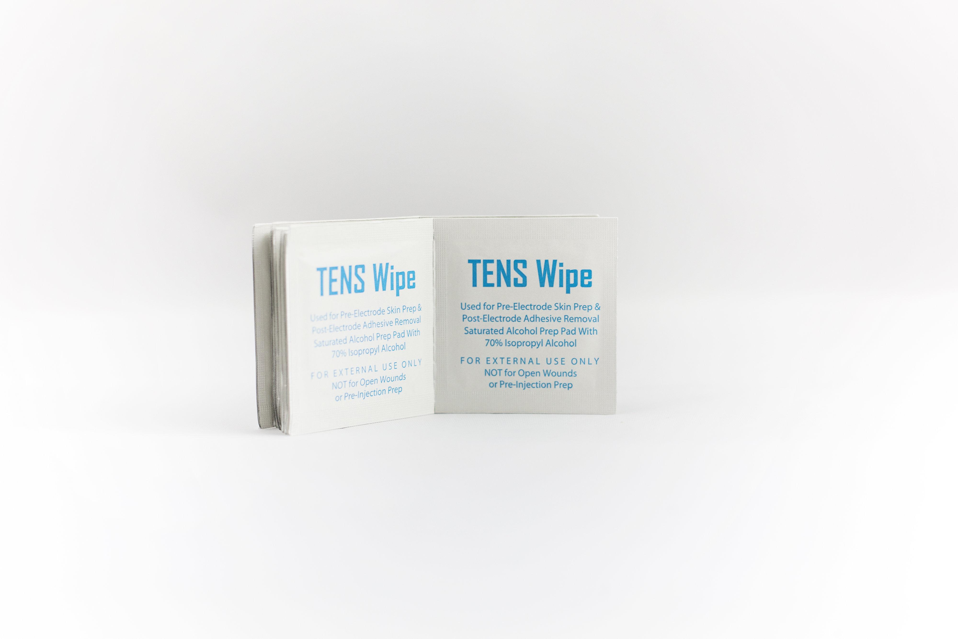 TENS Wipes, 100 Towelettes per Box