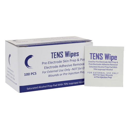 Small and Large Electrode Pad Bundle TENS Wipes