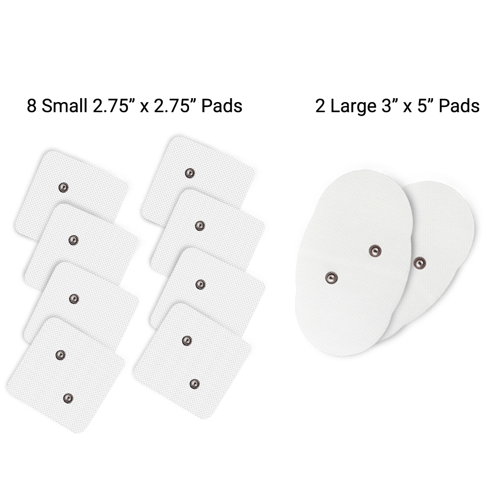 iReliev small and large pads whats included