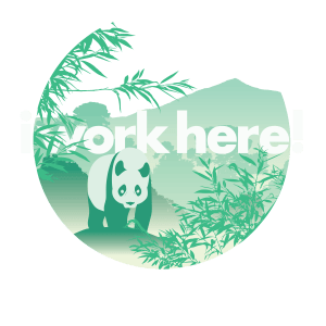 Panda in the bamboo design for itravelft