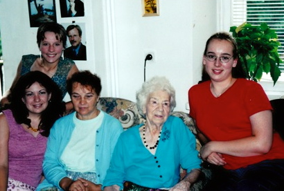 This 2002 photo is of Irena's co-workers during the war. They were not in her network, but worked with her in social services. They were interviewed by the girls from the project. There are some of the over 100 primary interviews about Irena Sendler. This photos and others from the 2002 trip were taken by Margaret Marczewski, Cornell grad who lives in Warsaw and helps with translation.