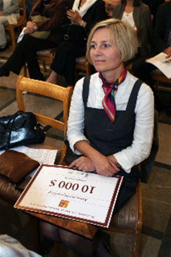 "Marzanna Pogorzelska, awarded in 2010 for ""Repairing the World"""