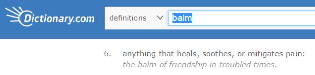Balm definition from dictionary.com