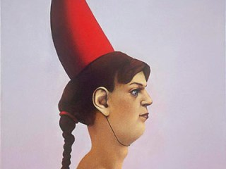 painting-2007-portrait-with-red-hat-lady-with-a-hat-oil