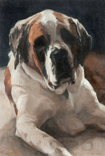 painting-2010-portrait-dog-daphane