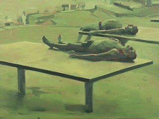 painting-2011-sunbathing-ping-pong-tables-bathers