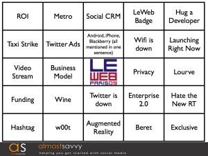 LeWeb bingo1.001 - LeWeb bingo1.001
