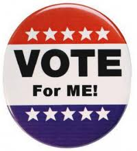 vote for me button - Apple