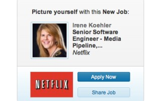 linkedin ad netflix irene koehler - Dear Netflix: While You're Huddled Under the Table, I've Got One More Thing