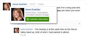 google hovercard - google+ hovercard