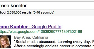 google results google irene koehler - The #1 Reason You'll Want to Use Google+