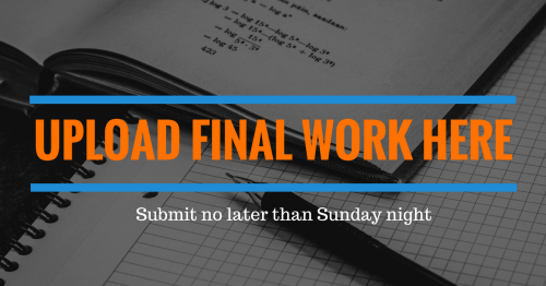 Submit final homework here - Submit final homework here