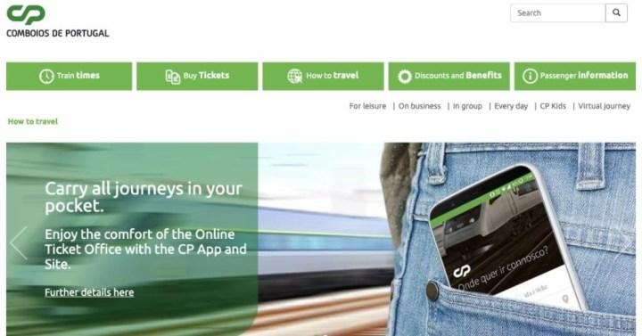 葡萄牙國鐵 | 葡萄牙國鐵CP 線上訂票教學