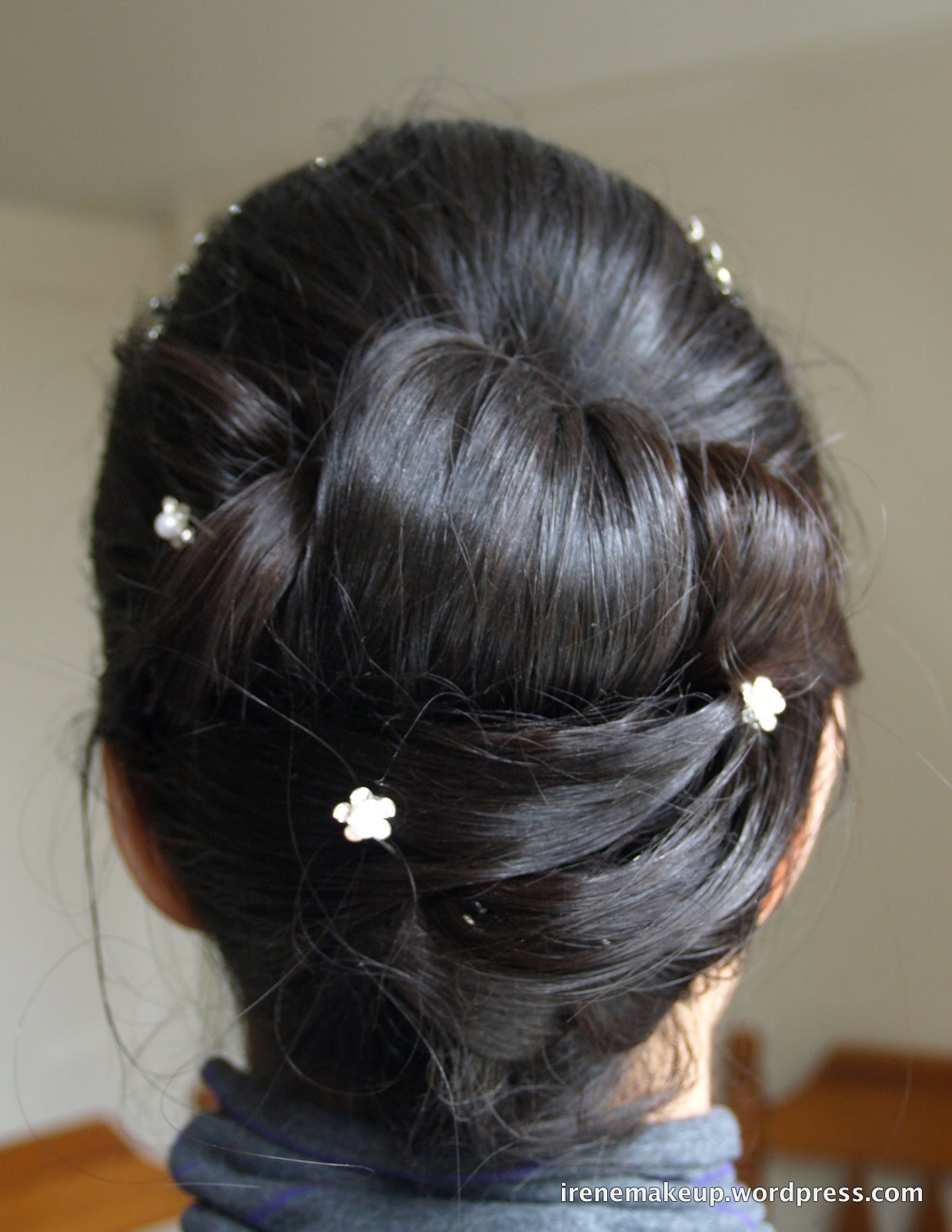 Chinese Bridal Hairstyles Classic Sleek Updo