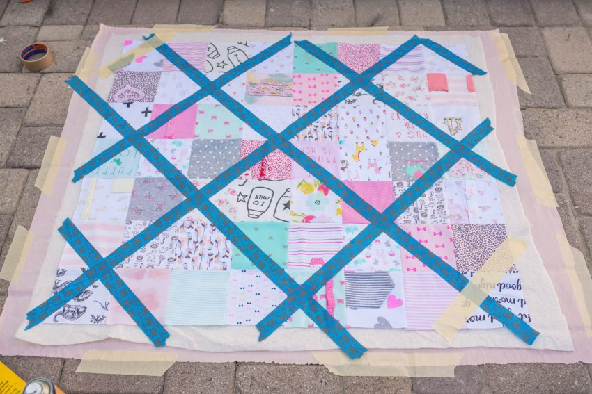 Baby Clothes Quilt Tutorial