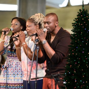 Advent Calendar Day 6 - 6th December; our wonderful Sounding Out band 'Platform 7' singers accompanied by a festive tree... More about the Sounding Out programme here; https://irenetaylortrust.com/what-we-do/our-projects/sounding-out/