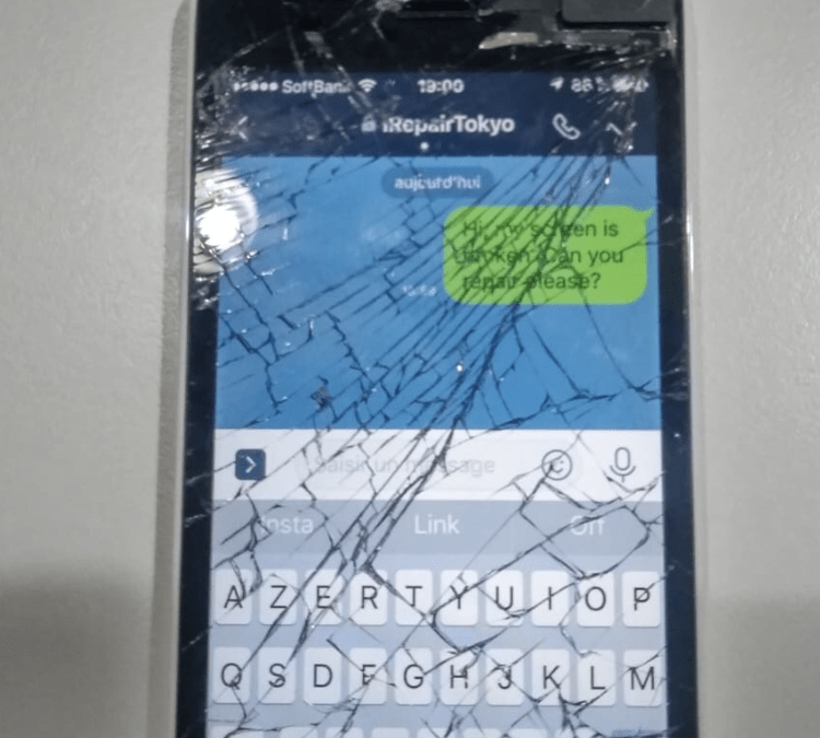 Mobile Cell Phone Repair in Tokyo – Cracked iPhone SE Screen