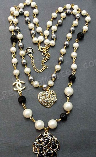 Chanel Replica Jewelry : chanel, replica, jewelry, Chanel, White, Diamond, Pearl, Necklace, Replica, Swiss, Watches, Onsale