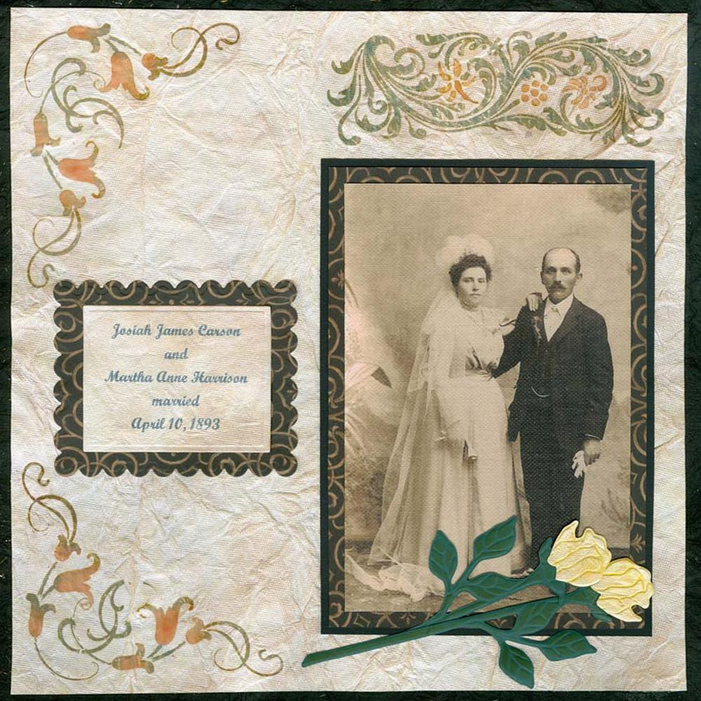 Vintage Wedding Day Scrapbook Layout FaveCraftscom