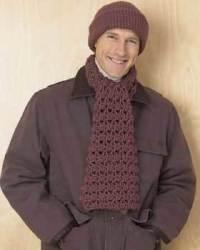 Hat and Scarf Set for Men | FaveCrafts.com