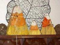 Wooden Candy Corn Decor | AllFreeHolidayCrafts.com