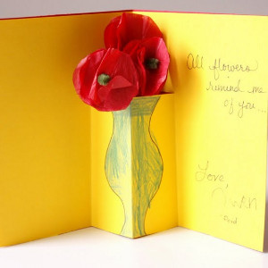 Bouquet In A Vase Card