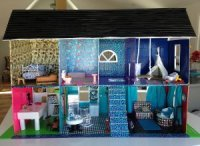 Funky DIY Doll House from Duct Tape | FaveCrafts.com