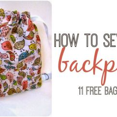 Kitchen Napkins Counter Height Tables How To Sew A Backpack: 11 Free Bag Patterns ...