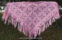 Pink Square Motif Shawl | AllFreeCrochet.com
