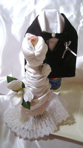 His and Hers Wine Bottle Covers  AllFreeDIYWeddingscom