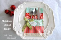Christmas Utensil Holders   FaveQuilts.com