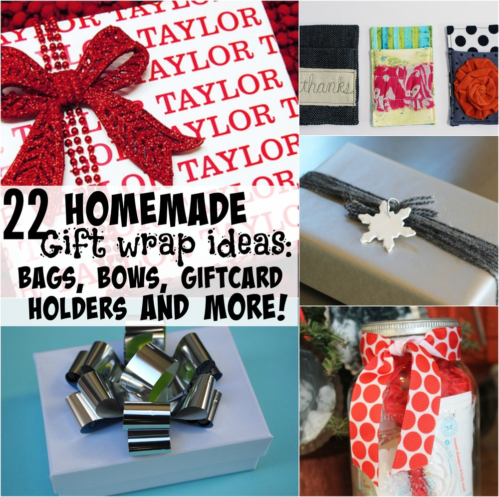 22 Homemade Gift Wrap Ideas Bags Bows Gift Card Holders