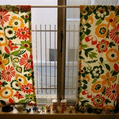 Kitchen Curtain Patterns Complete Cabinets Vintage Button Curtains Allfreesewing Com