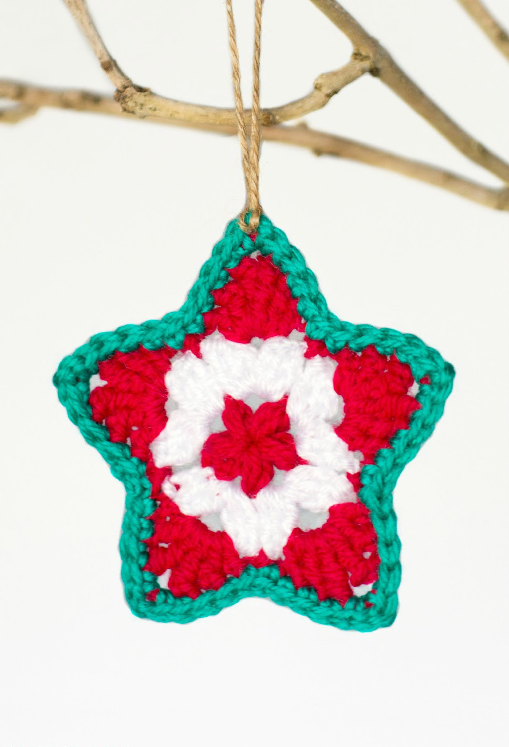 Perfect Little Crocheted Star Ornament